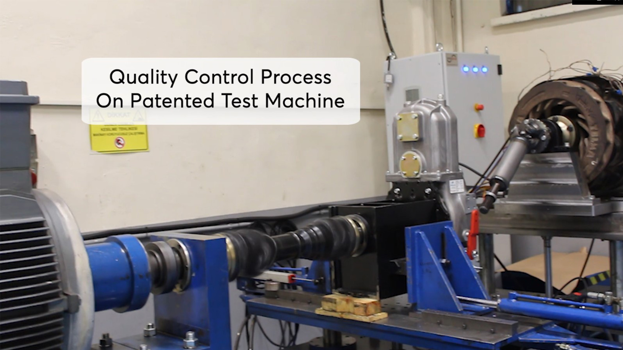 Sandwich PTO Testing Process - Patented Product on Patented Test Machine in KOZMAKSAN!