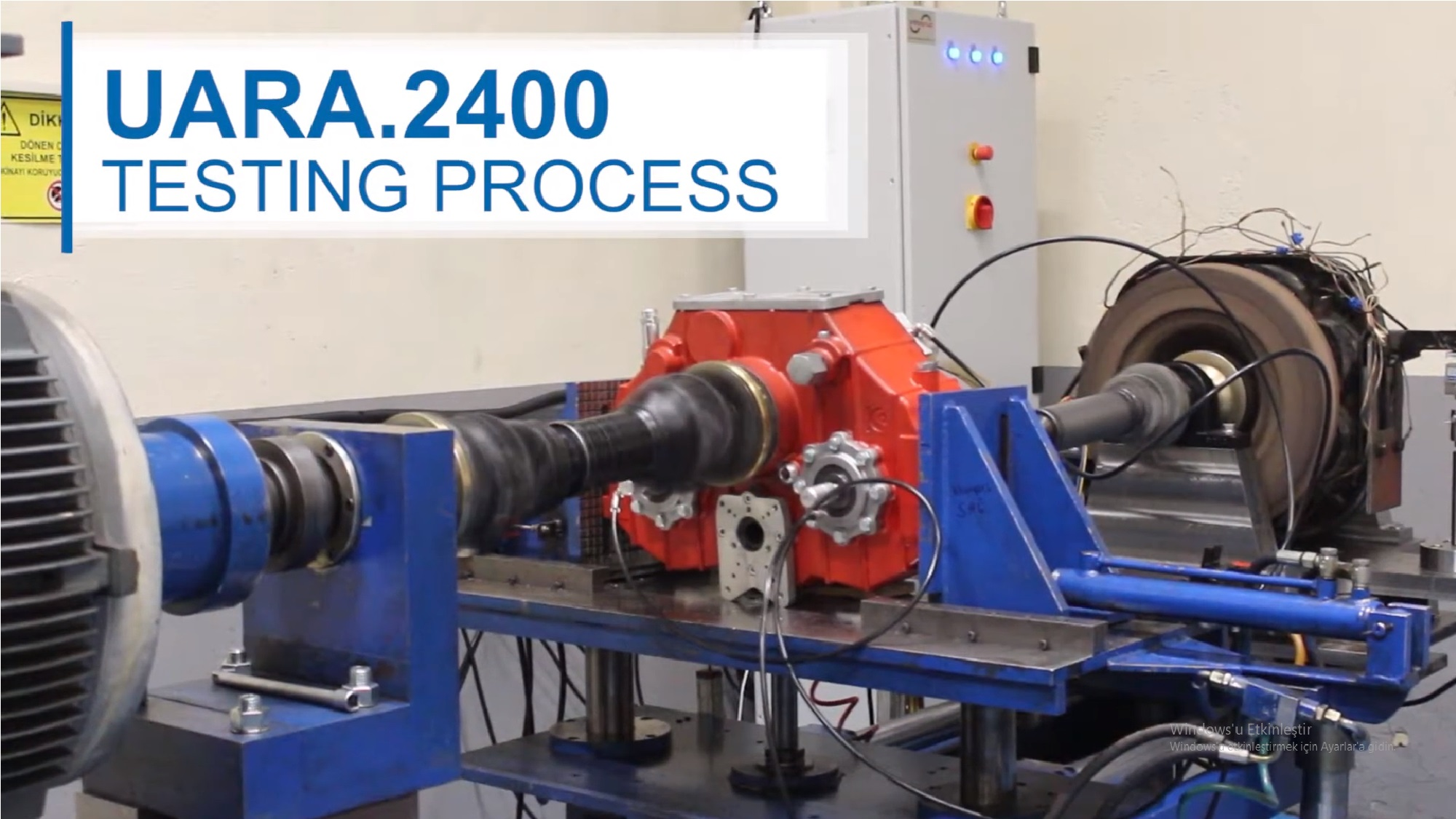 SPLIT SHAFT PTO TESTING PROCESS