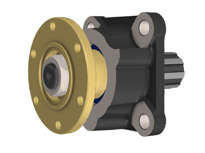 Adapter for ISO-Flange